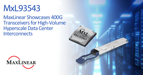 MaxLinear PAM4 DSP enables 400G QSFP-DD optical modules (Graphic: Business Wire)