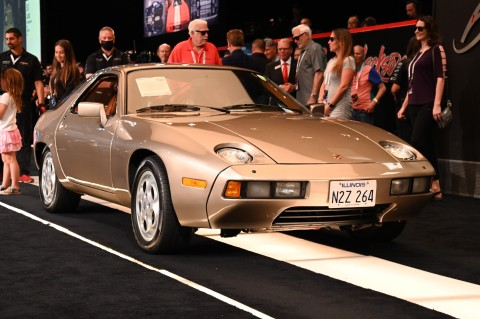 """A stellar group of vehicles crossed the Barrett-Jackson auction block led by a 1979 Porsche 928 (Lot#749) driven by Tom Cruise in the film """"Risky Business"""" that sold for $1.98 million (Photo: Business Wire)"""