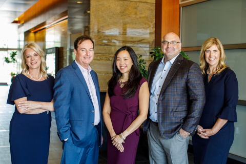 From left to right: Kimberly Mawk, Duncan Corley, Kris Yamano, Jason Miller, Louise Goudy (Photo: Business Wire)