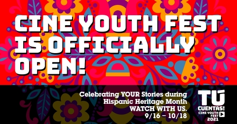 Premiering during Hispanic Heritage Month, the ¡Tú Cuentas! Cine Youth Fest is a celebration of the impact and influence of Latinx creatives in the film industry. The festival empowers storytellers to share their experiences and culture with the next generation of young content creators and inspires Latinx artists to grow in front and behind the lens. (Graphic: Business Wire)