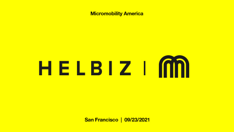 Helbiz starring at MicroMobility.io in San Francisco (Photo: Business Wire)