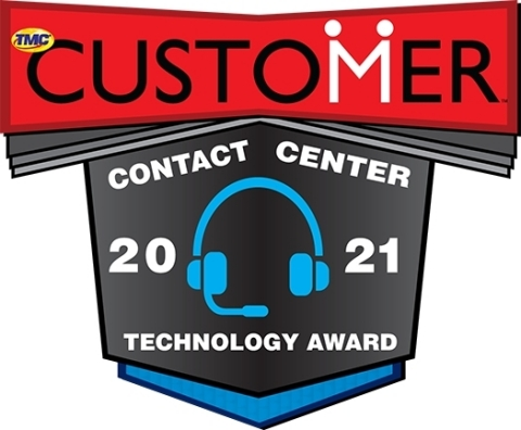 2021 CUSTOMER Magazine Contact Center Technology Award for Eleveo Schedule Adherence (Graphic: Business Wire)