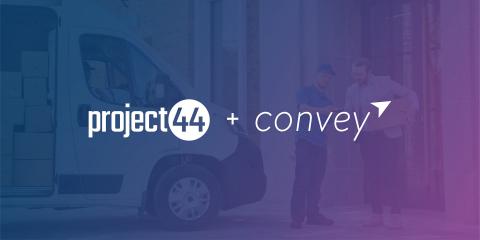 "project44 приобретает Convey, лидера на рынке доставки ""последней мили"" и клиентского опыта, за 255 млн. долл. (Графика: Business Wire)"