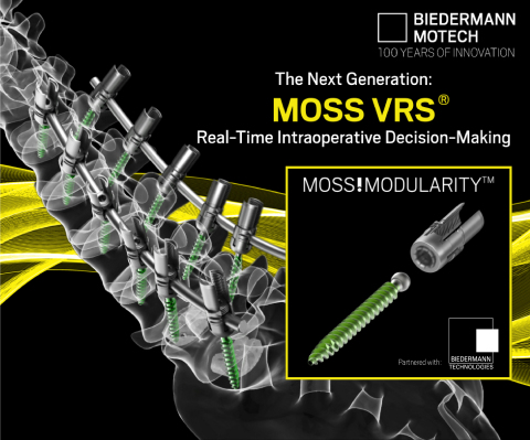 The Next Generation: MOSS VRS®. Real-Time Intraoperative Decision Making. (Graphic: Business Wire)