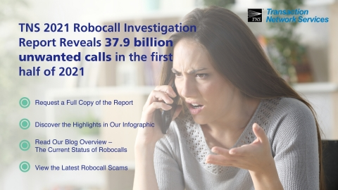 TNS September 2021 Robocall Investigation Report (Photo: Business Wire)