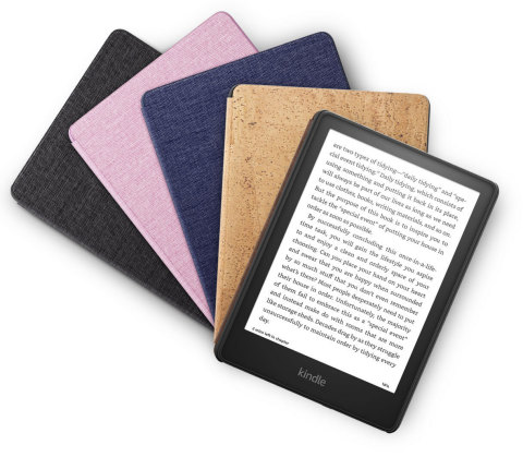 New leather, cork, and fabric covers for the all-new Kindle Paperwhite will be available in a variety of colors. (Photo: Business Wire)