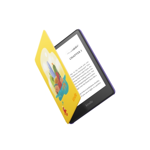 Kindle Paperwhite Kids includes a one-year subscription to Amazon Kids+ with access to thousands of books, a kid-friendly cover, and a 2-year worry-free guarantee. (Photo: Business Wire)