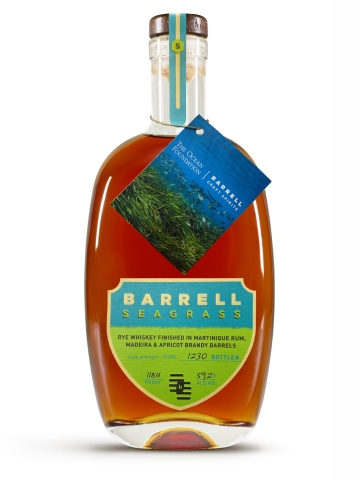 Barrell Craft Spirits created special hangtags that will be placed on select bottles of Barrell Seagrass beginning this month to celebrate National Bourbon Heritage Month and Climate Week (Sept. 20-26). BCS will donate a portion of the proceeds from the sale of these bottles to The Ocean Foundation in support of reversing the trend of destruction of ocean environments around the world, specifically contributing to the conservation and restoration of seagrass. Barrell Seagrass is now available at select retailers within the brand's current 48 U.S. markets and online via the BCS website at https://shop.barrellbourbon.com/barrell-seagrass-in-partnership-with-the-ocean-foundation/. (Photo: Business Wire)