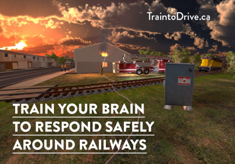 Today, as part of Rail Safety Week 2021 (September 20 to 26), Operation Lifesaver Canada (OL) is launching three new Train to Drive virtual-reality (VR) videos designed specifically for emergency responders. These new interactive training videos are designed to test whether police, paramedics, and firefighters know how to stay safe when responding to emergencies near railways. (Photo: Business Wire)