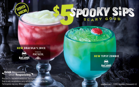 Applebee's® Offers Bone-Chilling Treat for Halloween with the Return of $5 Spooky Sips (Photo: Business Wire)