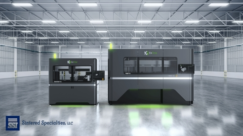 Wisconsin-based SSI Sintered Specialties, an international supplier of high-performance metal parts, has purchased two metal binder jet 3D printers from The ExOne Company. SSI will use the InnoventPro® 3L for material and application development, with the X1 160Pro™ dedicated to volume production through a fully automated cell with continuous sintering and state-of-the-art furnace equipment. (Photo: Business Wire)