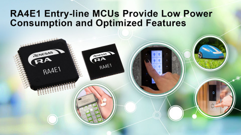 RA4E1 Entry-line MCUs Provide Low Power Consumption and Optimized Features (Graphic: Business Wire)