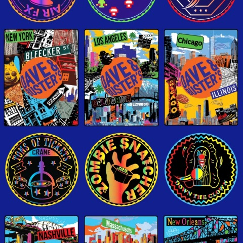 Dave & Buster's NFT Digital Collectible Coins & Cards (Graphic: Business Wire)