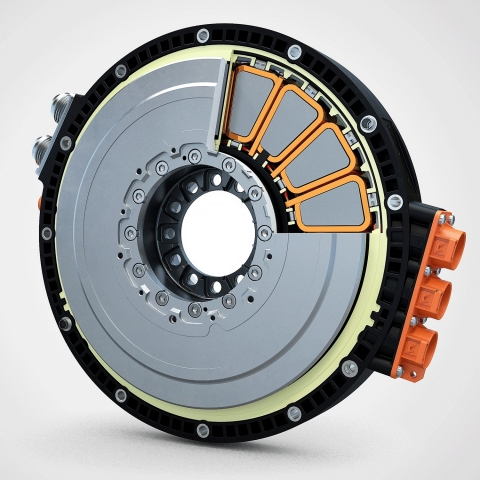 An Evolito axial-flux motor for aerospace applications (Photo: Business Wire)