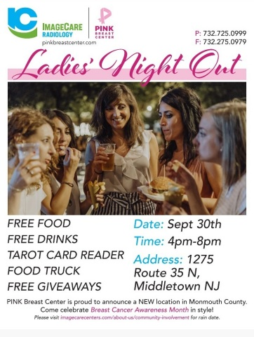 ImageCare Radiology is Hosting Ladies Night Out Events to Raise Breast Cancer Awareness on Sept. 30 in Middletown, NJ (Photo: Business Wire)