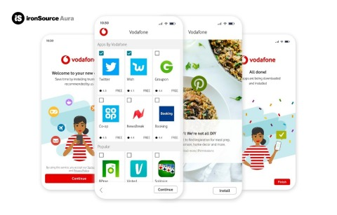 ironSource Partners with Vodafone (Graphic: Business Wire)
