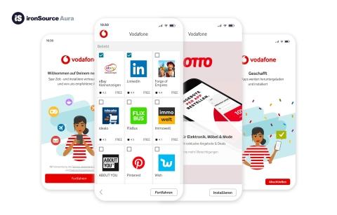 ironSource und Vodafone vereinbaren Partnerschaft (Graphic: Business Wire)