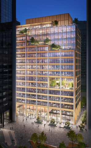 Burrard Exchange at Bentall Centre, a proposed hybrid mass timber development in the heart of downtown Vancouver, will add 450,000 square feet of creative office and retail space to the Bentall Centre campus (Photo: Business Wire)