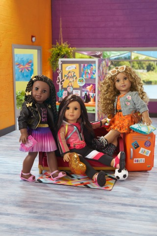 American Girl's new World by Us doll and book line, featuring contemporary characters Makena Williams, Maritza Ochoa, and Evette Peeters, elevates multicultural stories that reflect American girls today. (Photo: Business Wire)