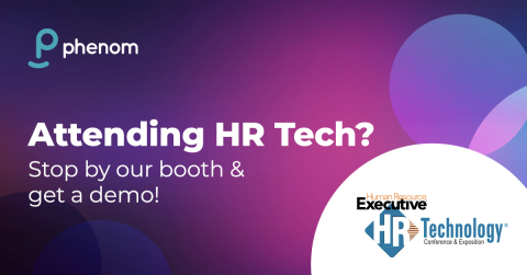 Phenom will be at the HR Technology Conference & Expo in Las Vegas from Sept. 28-Oct. 1. (Graphic: Business Wire)