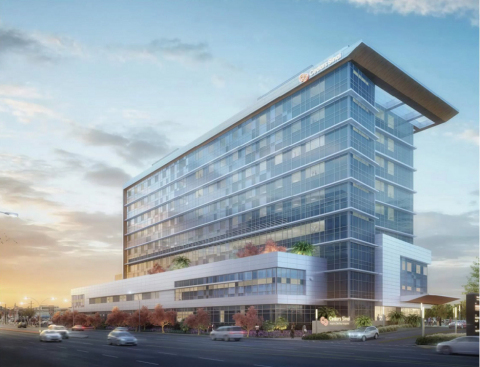 Rendering of the new Cedars-Sinai Marina del Rey Hospital (Source: HDR, Inc.)