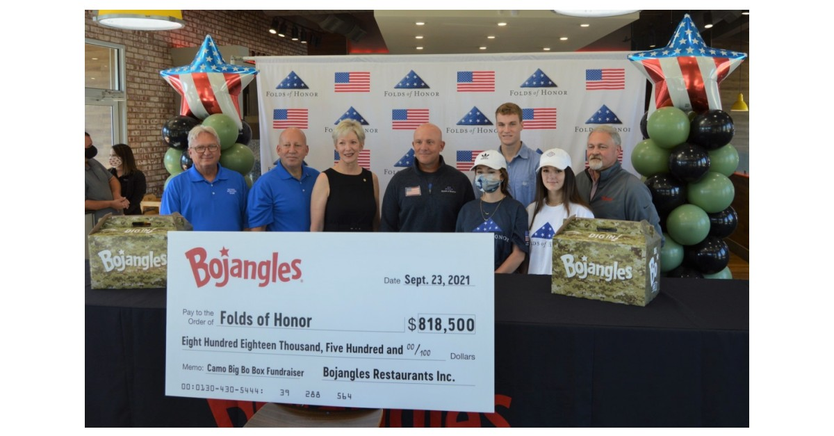 CHARLOTTE, N.C.--(BUSINESS WIRE)--Bojangles Raises Over $818K for Folds of Honor, Awarding 163 Academic Scholarships to Families of Fallen or Disabled Service Members