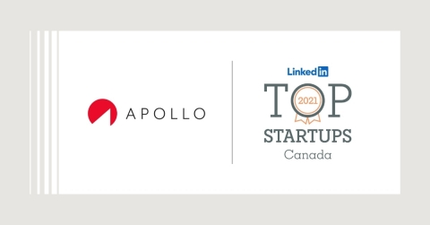 APOLLO Insurance Named to LinkedIn's 2021 Top Canadian Startups List (Graphic: Business Wire)
