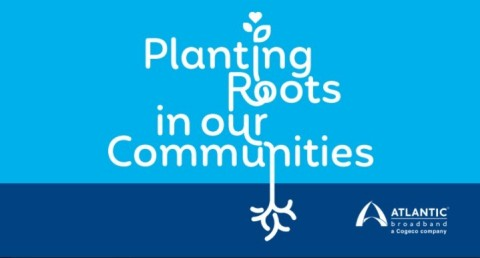 More than 250 Atlantic Broadband employees, family members and school partners volunteered their time to plant trees at 19 locations in seven states where Atlantic Broadband provides internet, TV & phone services. (Photo: Business Wire)