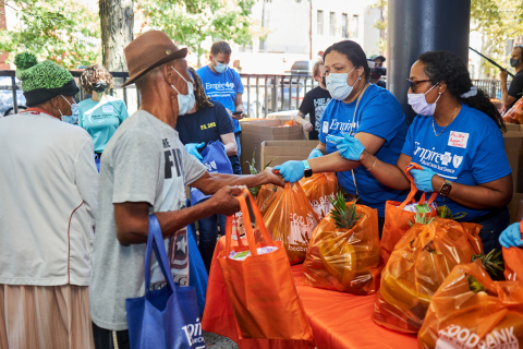 Empire associates volunteer during Hunger Action Month (Photo: Business Wire)
