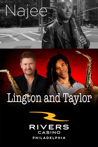 Najee, Michael Lington, and Paul Taylor will perform at Rivers Casino Philadelphia on Friday, Nov. 26, at 8 p.m. (Photo: Business Wire)