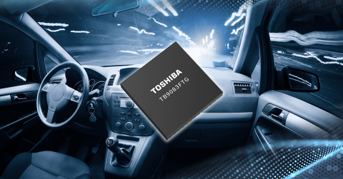 """Toshiba: a pre-driver IC """"TB9083FTG"""" for automotive applications including brushless motors for electric power steering systems and electric brakes. (Graphic: Business Wire)"""