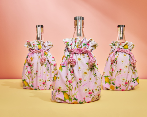 The Cynthia Rowley x Gin Lane 1751 'Victoria' Pink Bottle Clutch supports Gin Lane 1751's annual fundraising campaign for The Pink Agenda - the noted nonprofit organization committed to raising money for breast cancer research and care. (Photo: Business Wire)