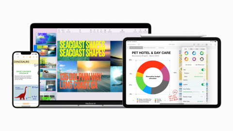 Keynote, Pages, and Numbers come with all-new features that make it easy to create amazing work on iPhone, iPad, and Mac. (Photo: Business Wire)