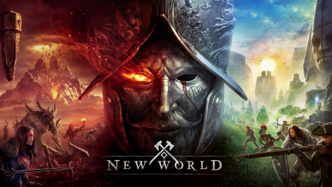 Aeternum Awaits: New World, a massively multiplayer online role-playing game that pits players against the haunted wilderness of Aeternum, a mysterious supernatural island in the twilight of the Age of Exploration, is now available for PC from Amazon Games. (Graphic: Business Wire)