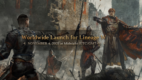 NCSOFT, a global premier game developer and publisher, announced that the company's upcoming multi-platform MMORPG, 'Lineage W,' launches simultaneously in 13 countries and regions on November 4. Lineage W launches at midnight of November 4 (UTC/GMT+9) in 13 countries and regions, including Korea, Taiwan, Japan, Russia, Southeast Asia, and the Middle East. Character name reservation for preferred server begins at 11 am September 30 (UTC/GMT+9) on the event page. The global pre-registration for Lineage W, which crossed 10 million marks, is in progress on the official website, Google Play, and App Store. (Graphic: Business Wire)
