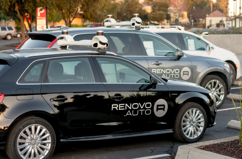 Renovo's automated driving test fleet (Photo: Business Wire)