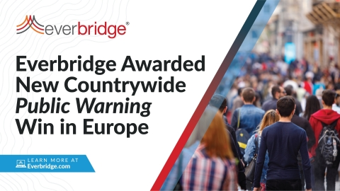 Everbridge Announces New Public Warning Win to Provide Countrywide Alerting for One of The European Union's Most Populous Countries (Graphic: Business Wire)