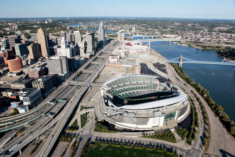 Hamilton County, OH's partnership with leading cleantech integrator, Ameresco, resulted in the installation of approximately 300 LED lights at Paul Brown Stadium, home of the Cincinnati Bengals, that will save taxpayers more than $60,000 in annual electric costs (Photo: Business Wire)