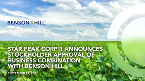 Benson Hill is expected to begin trading under NYSE: BHIL on Sept. 30, 2021. (Graphic: Business Wire)