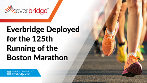 Highlighting a Re-Opening of Major Sporting Events, the Boston Athletic Association Deploys Everbridge for the 125th Running of the Boston Marathon (Graphic: Business Wire)