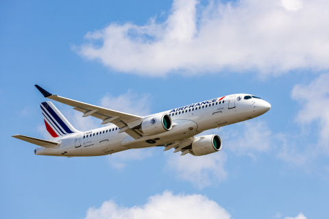 Air France to install Intelsat's 2Ku high-speed, satellite-based inflight connectivity solution on 60 new Air France A220-300 aircraft. (Photo courtesy: Air France.)