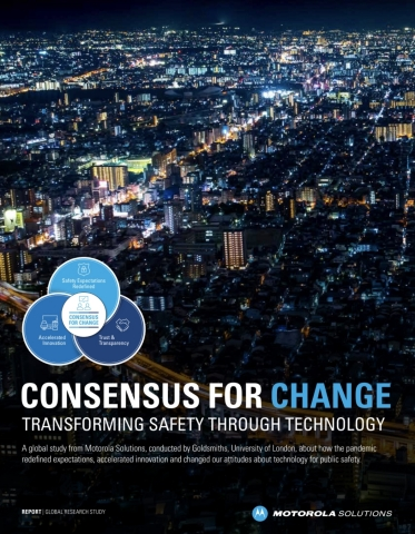 A global research study from Motorola Solutions, conducted by Goldsmiths, University of London, found that COVID-19 has accelerated changes in public perspectives related to safety and the acceptance and adoption of new technologies. (Photo: Motorola Solutions)