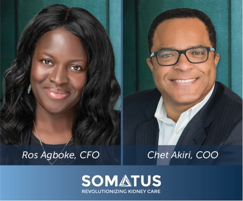 Somatus Welcomes Ros Agboke as CFO and Chet Akiri as COO. (Photo: Business Wire)