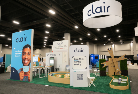 Clair's booth at the HR Tech Conference (Photo: Business Wire)