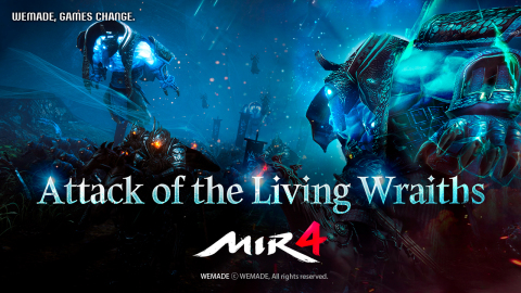 Wemade Co., Ltd.'s masterpiece mobile MMORPG, MIR4 released new battle content, 'Attack of the Living Wraiths'. Once Attack of the Living Wraiths begin, players will be able to fight fiercely against named monsters, semi-bosses, and boss monsters, while acquiring treasure chests. Attack of the Living Wraiths will be held every Thursday from 10:00 to 11:00 pm local server time, throughout the fourth floor in Bicheon, Snake, and Redmoon Hidden Valleys. In addition, a new Raid (Wailing Dead Mine - level 115) as well as a new Boss Raid (Nefariox King - level 105) is included with the update. Future update plans include Class Change and release of a new character - Arbalist, expected to be released in November. (Graphic: Business Wire)