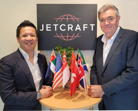 Tim Yue, sales director, Jetcraft Asia (left), will lead Jetcraft's new Singapore office, with the oversight of David Dixon, president, Jetcraft Asia (right). (Photo: Business Wire)