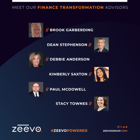 Kimberly Saxton is joining a roster of trusted advisors on Zeevo Group's Advisory Board that include: Brook Garberding (former Boeing Business and Finance leader); Dean Stephenson (formerly AerCap Finance and Accounting leader); Debbie Anderson (former Weyerhaeuser Controlling and Internal Audit expert); Paul McDowell (former GoDaddy Finance and Treasury executive); and Stacy Townes (Former Intellectual Ventures and Deloitte Internal Audit, Risk, and Compliance expert). (Photo: Business Wire)