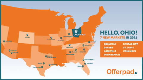Offerpad now serves home buyers and sellers in Ohio (Graphic: Business Wire)