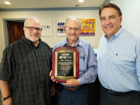Left to Right: Pete Paquette, Operations Manager; Allen Dempsey, WTLN personality; Tim Robisch, General Manager WTLN/WORL (Photo: Business Wire)