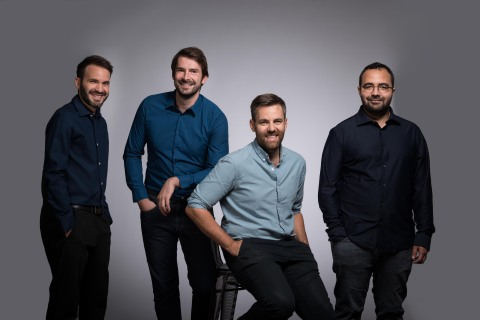 Mindee Co-Founders Olivier Rey (CTO), Victor Briançon-Marjollet (COO), Jonathan Grandperrin (CEO) and Mohamed Biaz (CSO) (Photo: Business Wire)